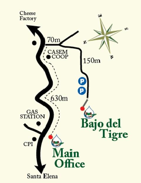 Map Main Office + Bajo Tigre
