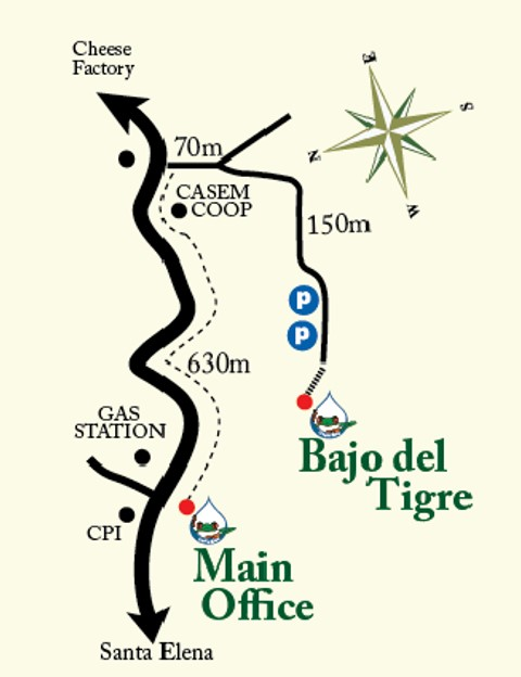 Map Main Office + Bajo Tigre