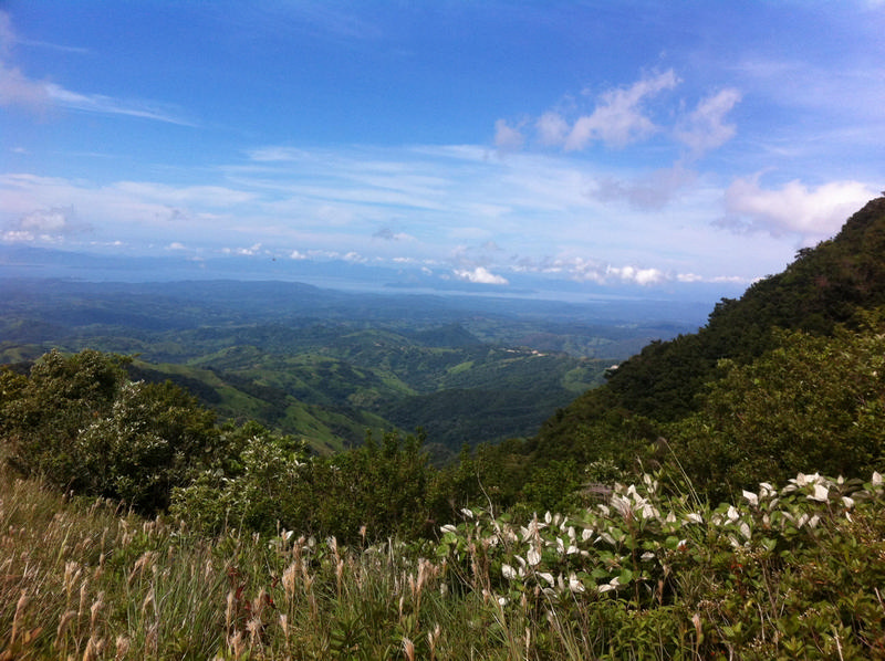 View of the Golf of Nicoya from the Pacific slope of the BEN, Bellbird Biological Corridor